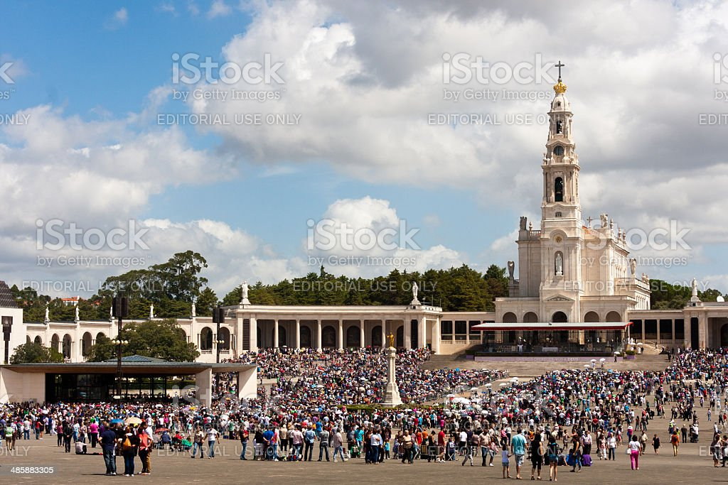 Sanctuary of Fatima located in Portugal royalty-free stock photo