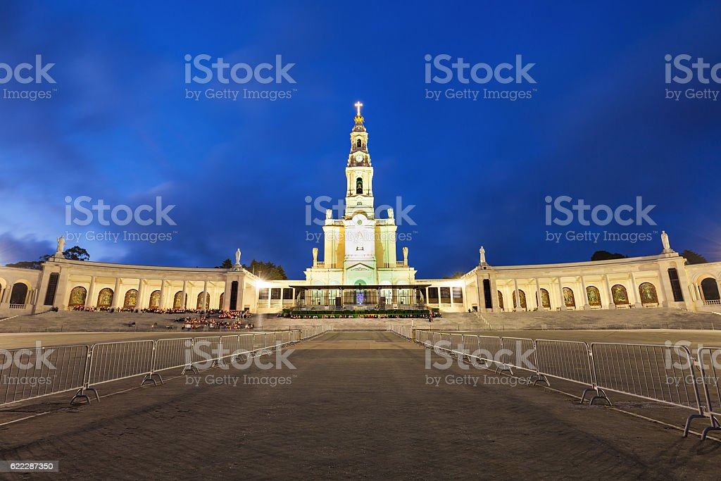Sanctuary of Fatima stock photo
