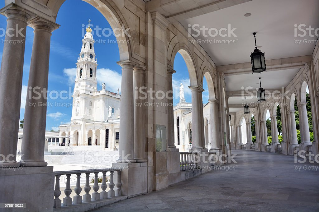 Sanctuary of Fatima, Portugal stock photo