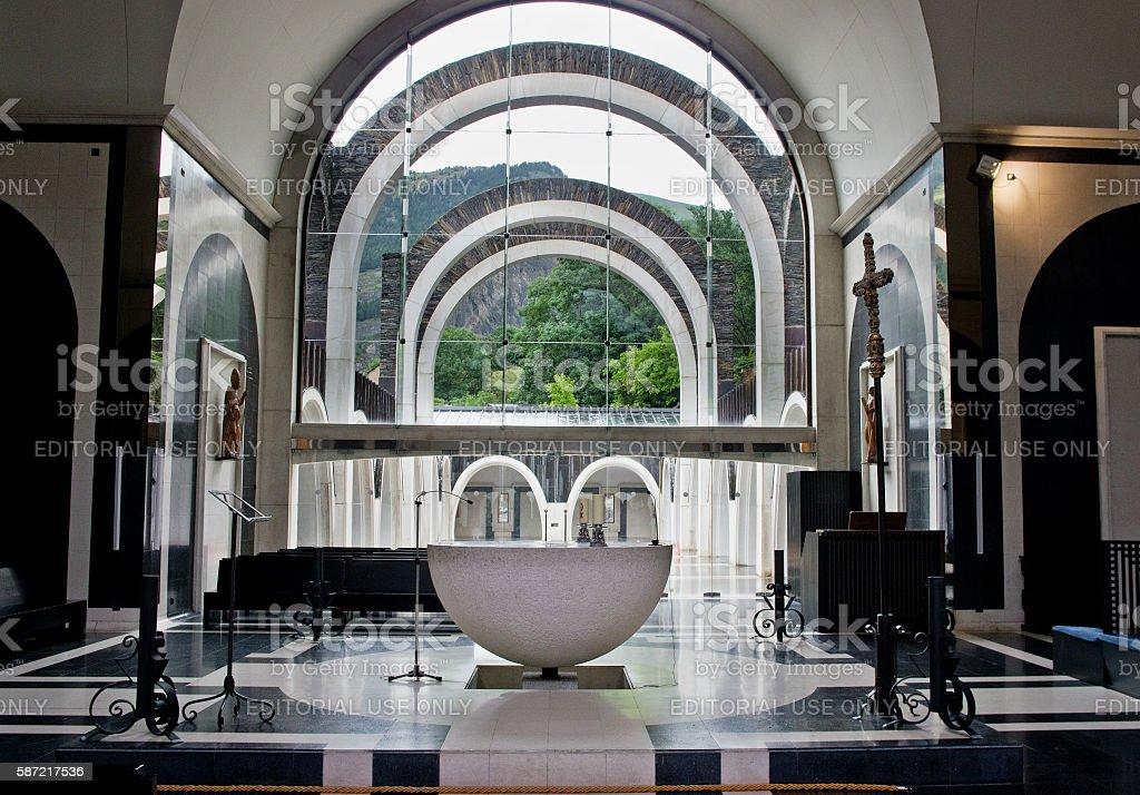 Sanctuary of Meritxell,  Andorra stock photo