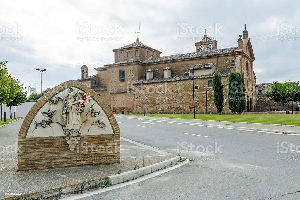 Sanctuary of Our Lady  Carmen, Calahorra. royalty-free stock photo