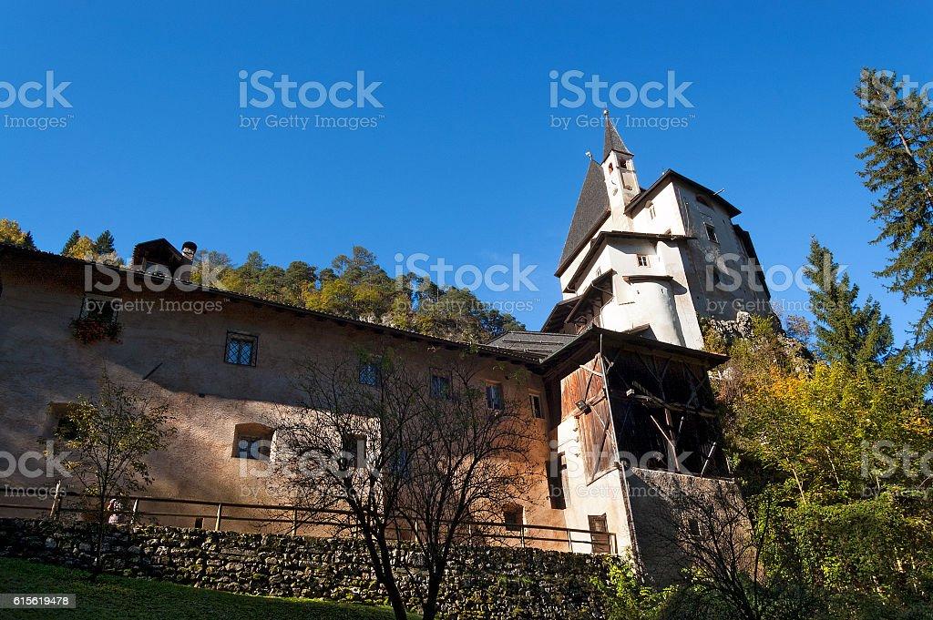 Sanctuary of San Romedio - Trento Italy stock photo