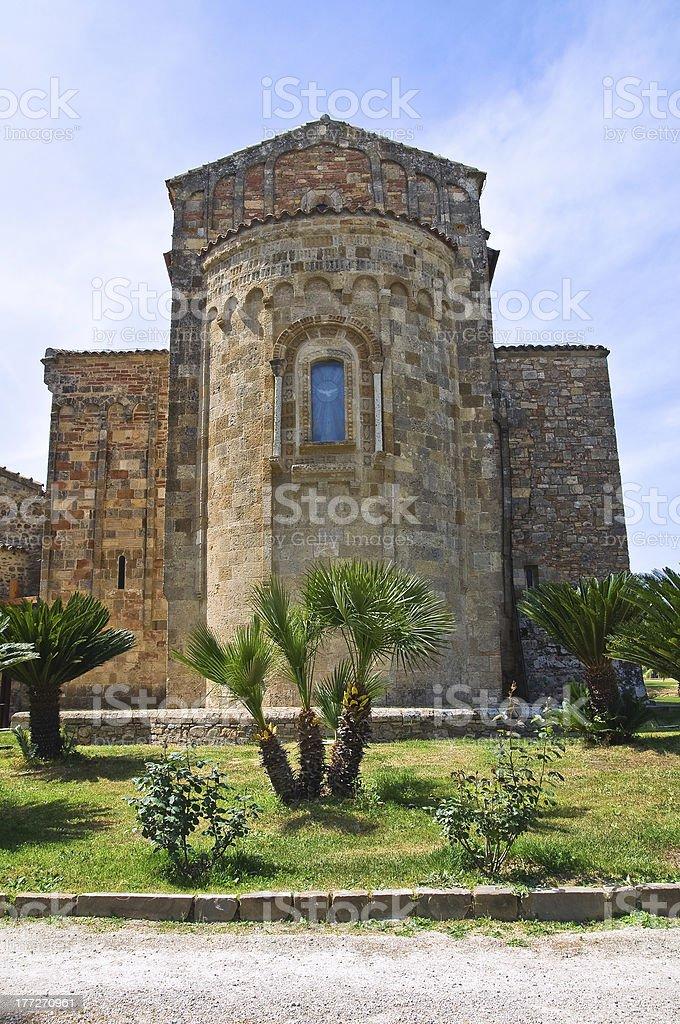 Sanctuary of St. Maria d' Anglona. Tursi. Basilicata. Italy. royalty-free stock photo