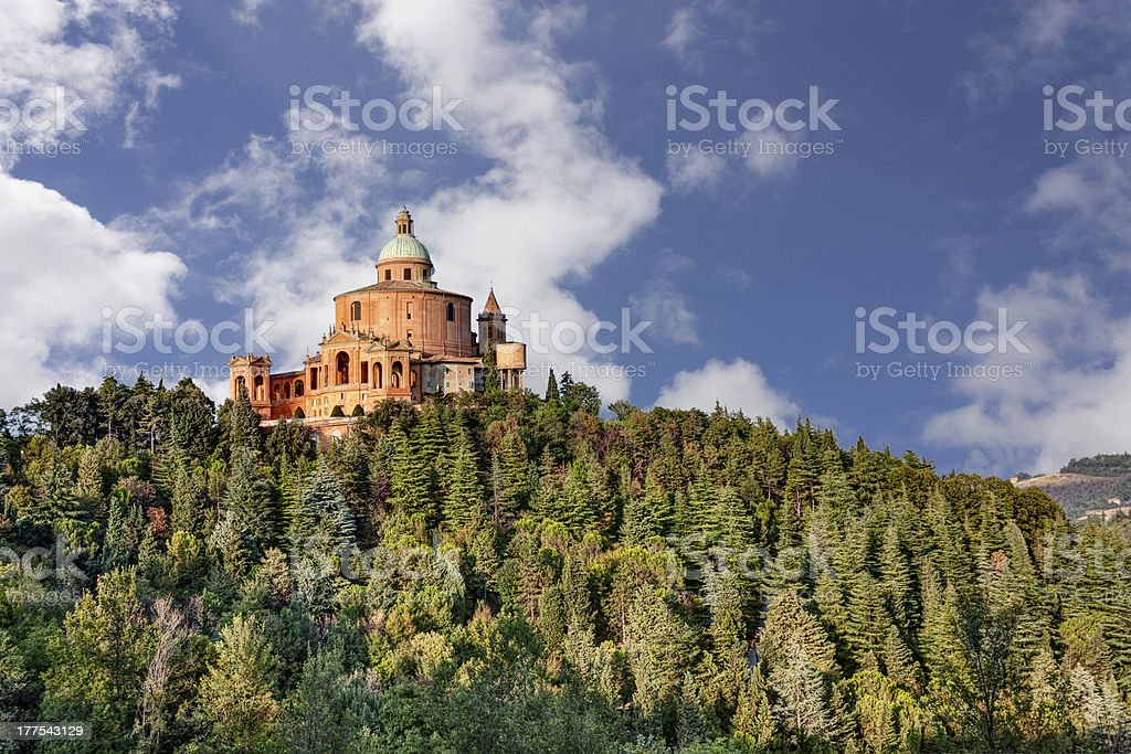 sanctuary of the Madonna di San Luca, Bologna, Italy stock photo