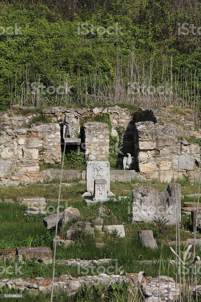 Sanctuary of Zeus Hypsistos at Dion stock photo