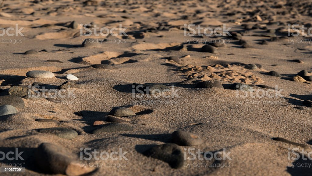 Sand after the water. stock photo