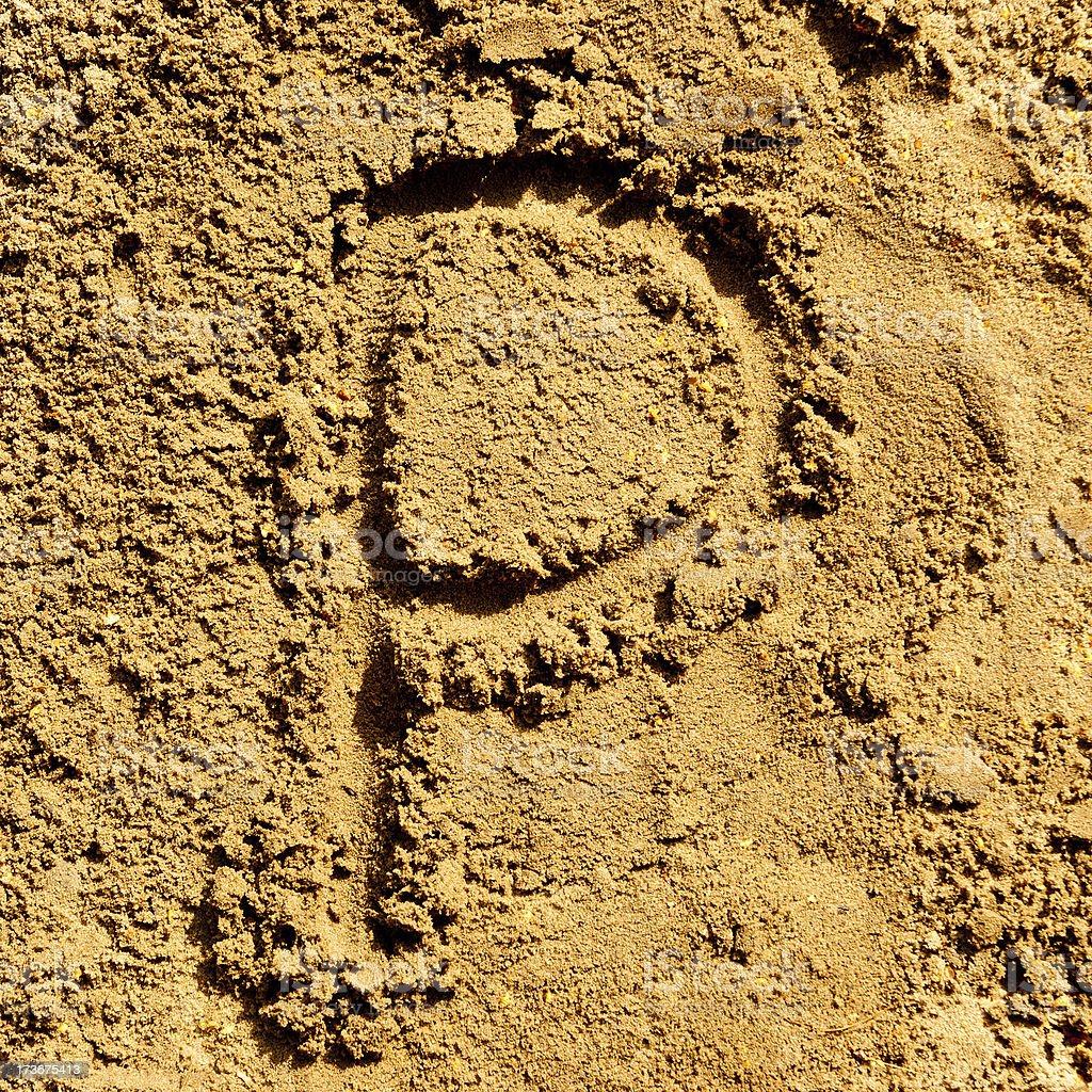 sand alphabet royalty-free stock photo