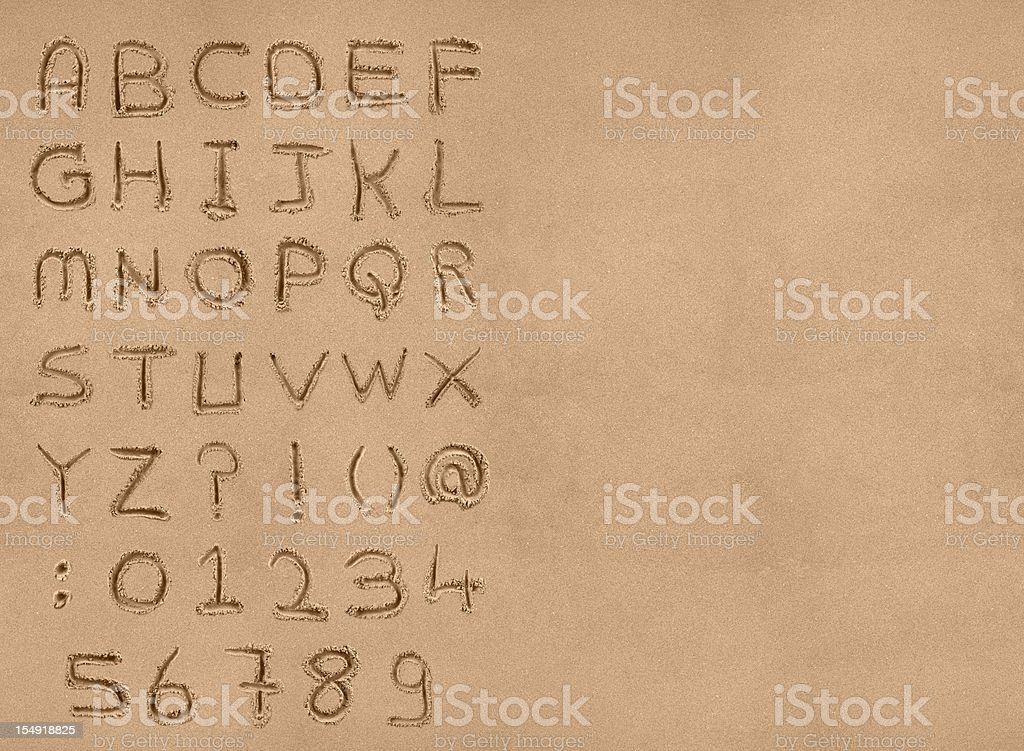 Sand Alphabet with clipping path stock photo