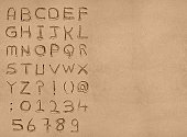 Sand Alphabet with clipping path
