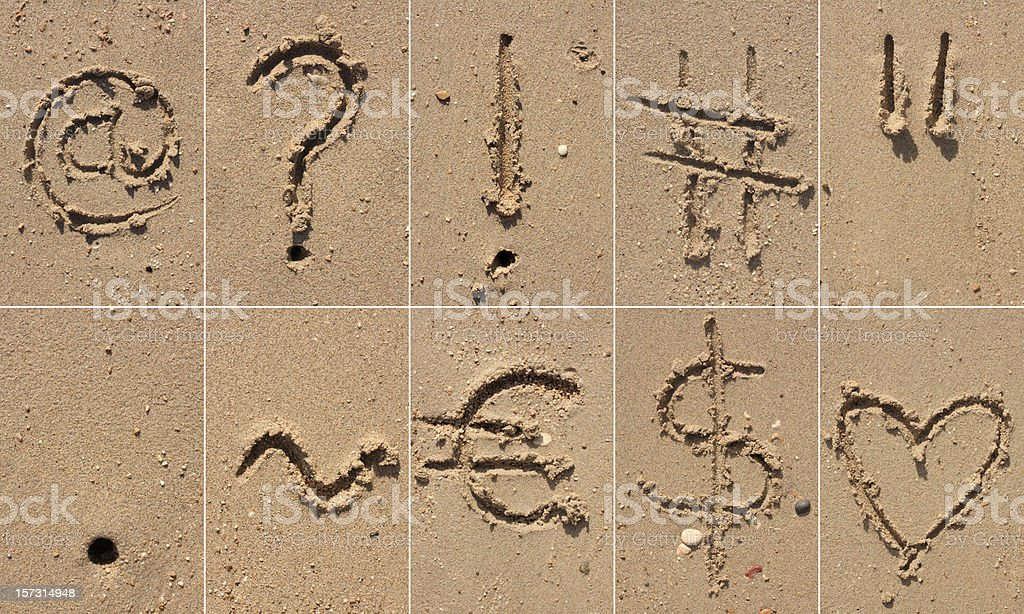 Sand Alphabet XXXL stock photo