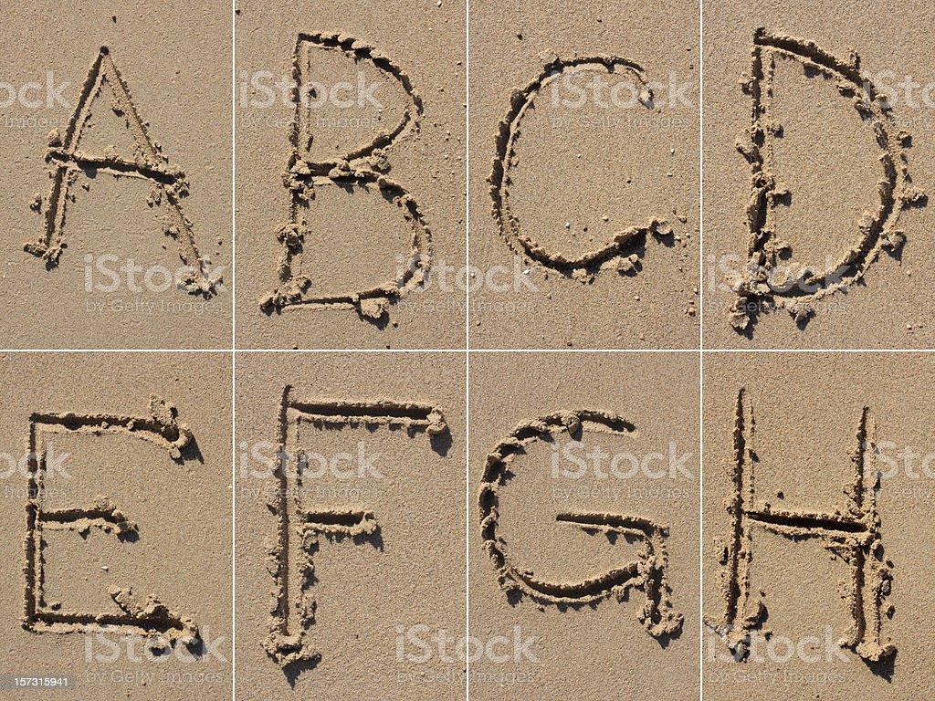 Sand Alphabet XXXL royalty-free stock photo