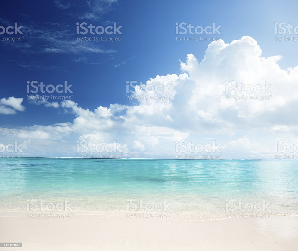sand and Caribbean sea royalty-free stock photo
