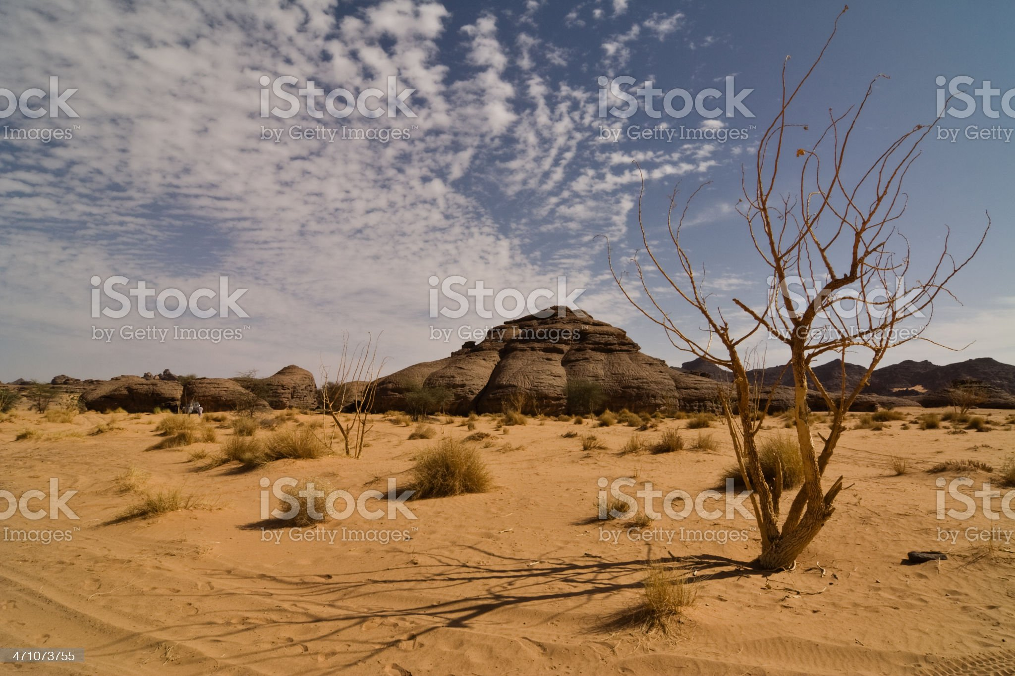 Sand and Clouds royalty-free stock photo