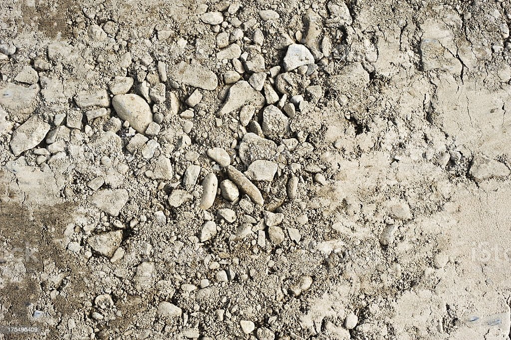 Sand and gravel royalty-free stock photo