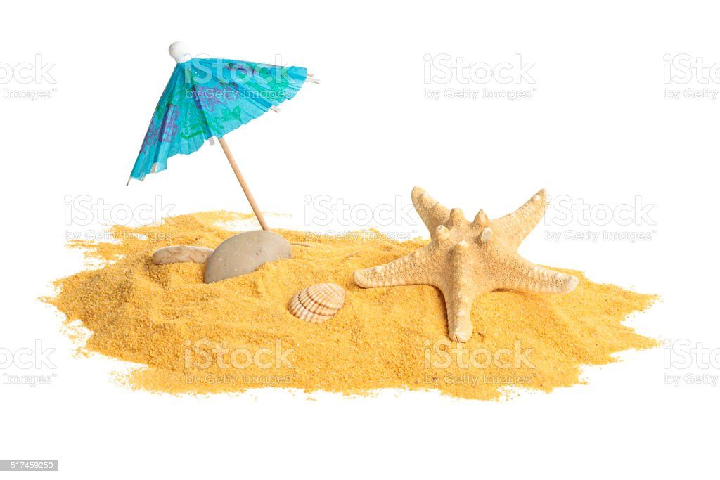 Sand and shells. stock photo