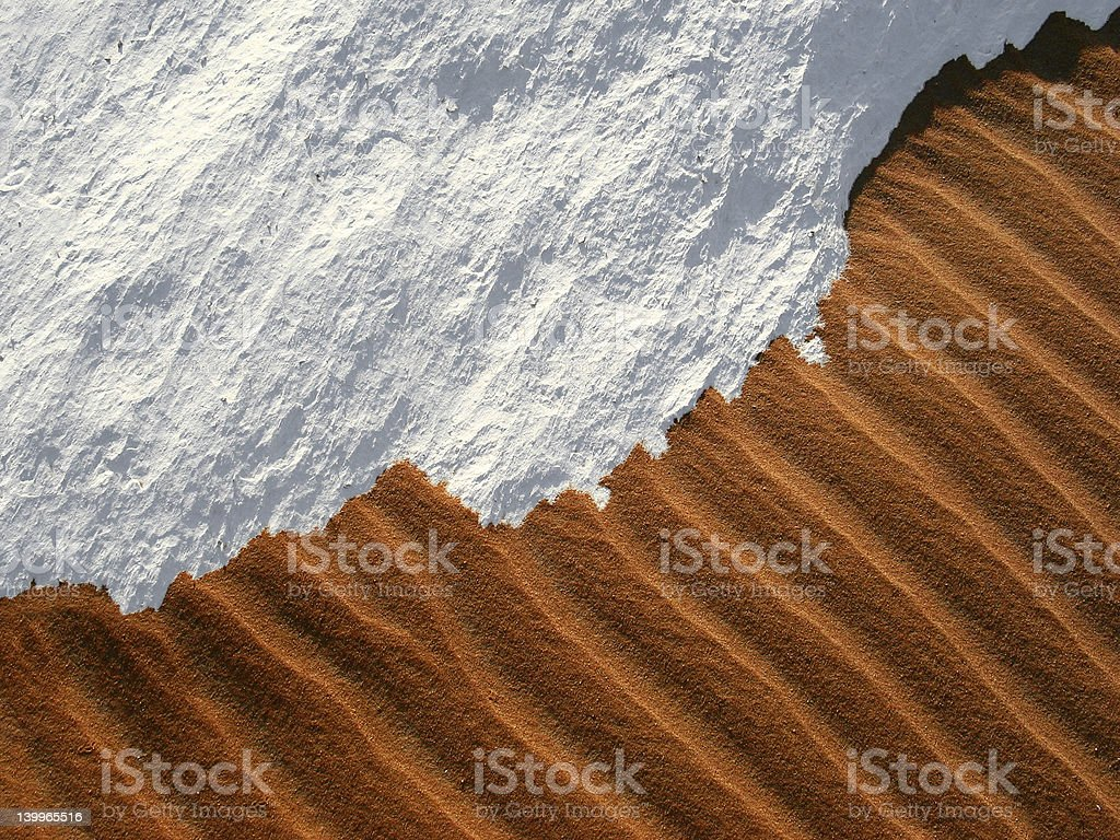 Sand and snow royalty-free stock photo