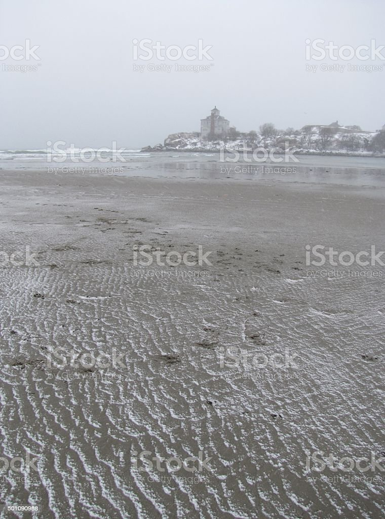 Sand and Snow stock photo