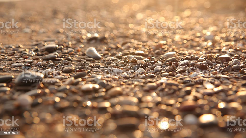 Sand and stone stock photo