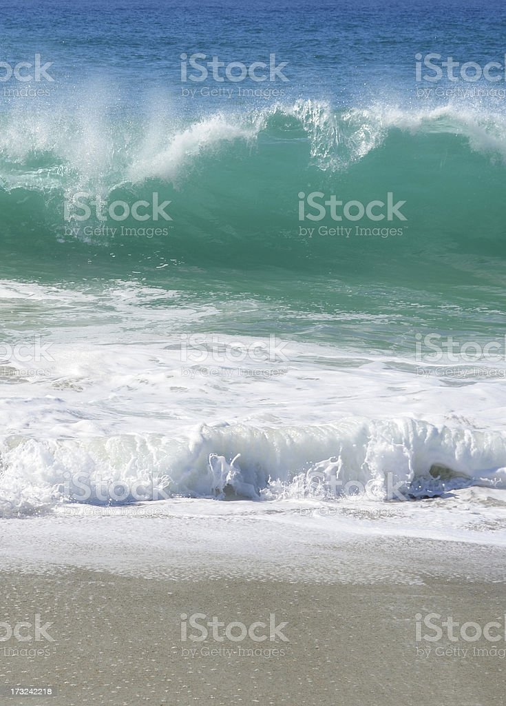 sand and surf royalty-free stock photo