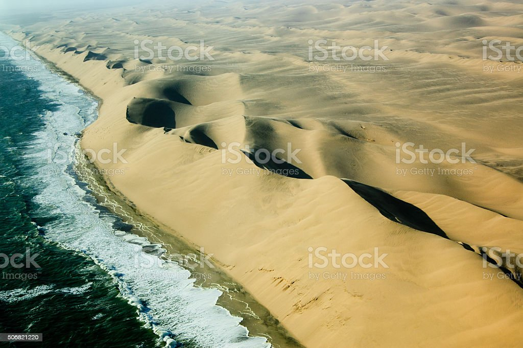 Sand and Water Waves 2 stock photo