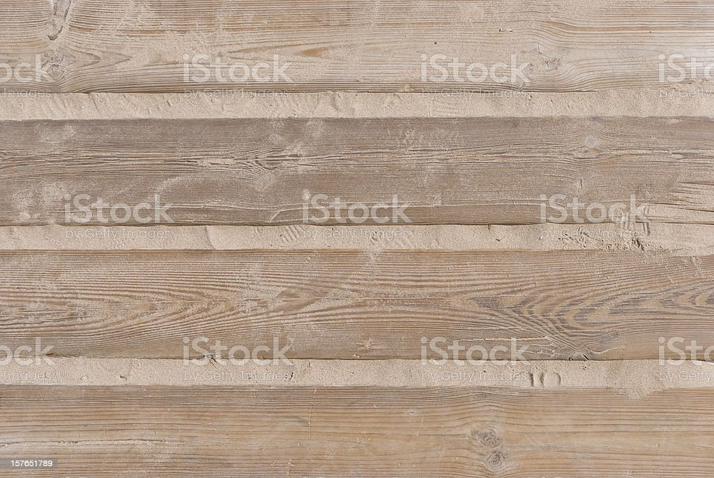 Arena y madera - foto de stock