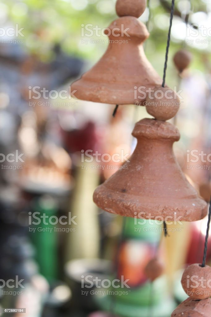Sand art bell stock photo