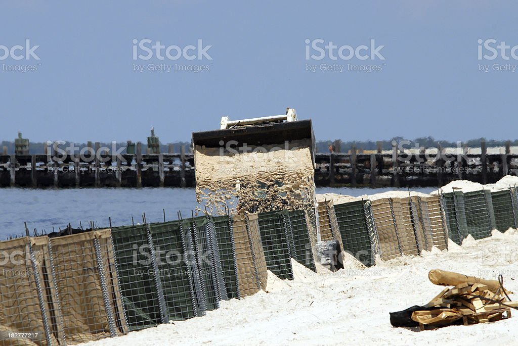 Sand Barriers royalty-free stock photo