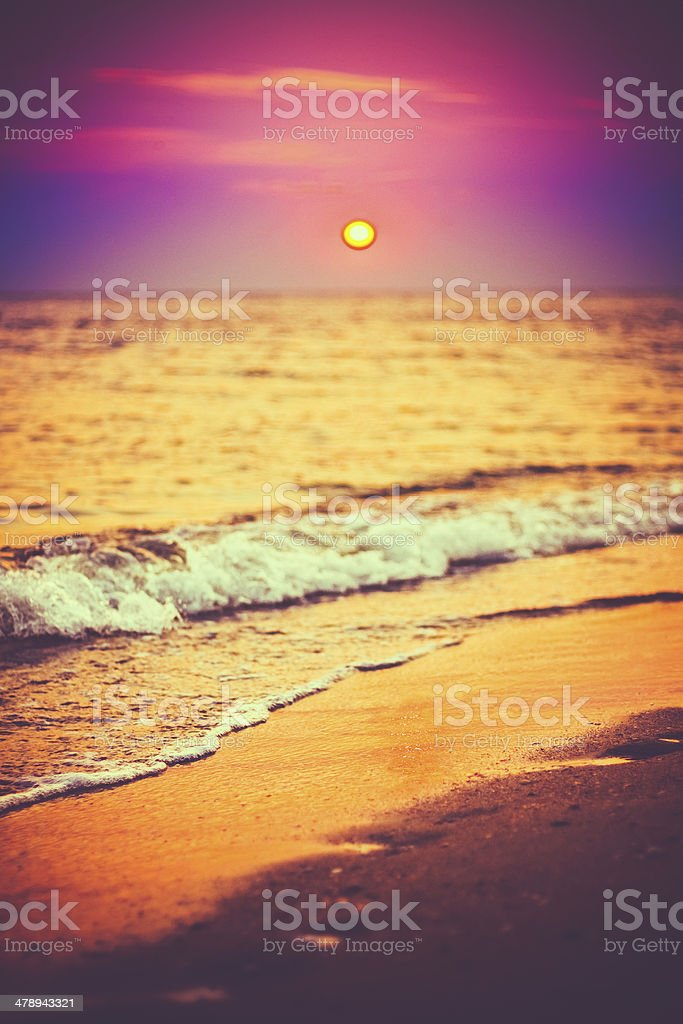 Sand Beach And Wave royalty-free stock photo