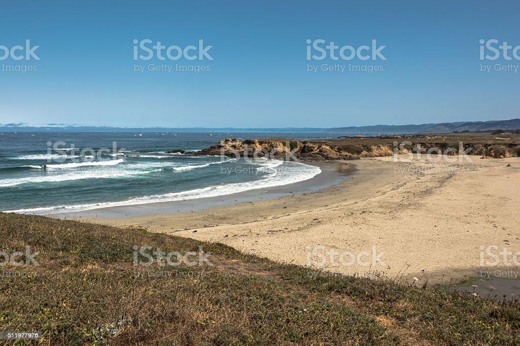 Sand beach at Fort Bragg, California stock photo