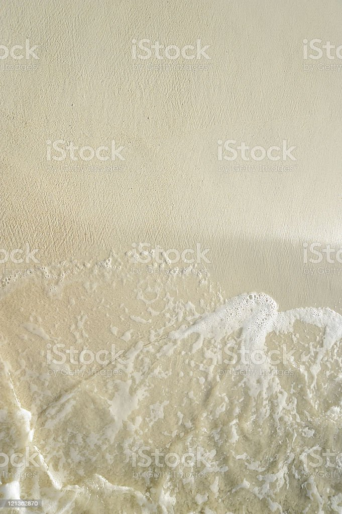 Sand beach close up stock photo