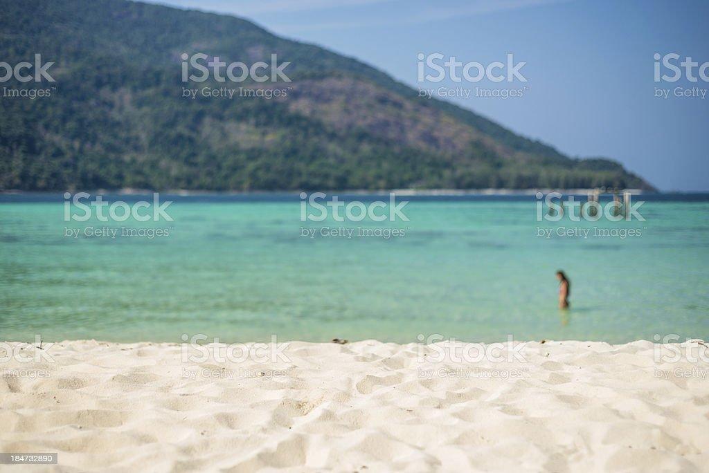 Sand, beach Thailand sea. Topical Island, Koh Lipe. Swimming, royalty-free stock photo