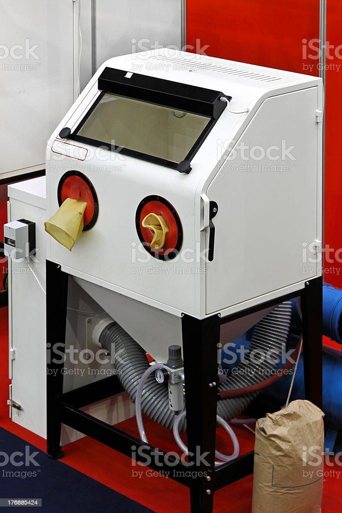 Sand blasting cabinet stock photo