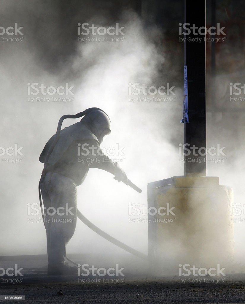 Sand Blasting stock photo