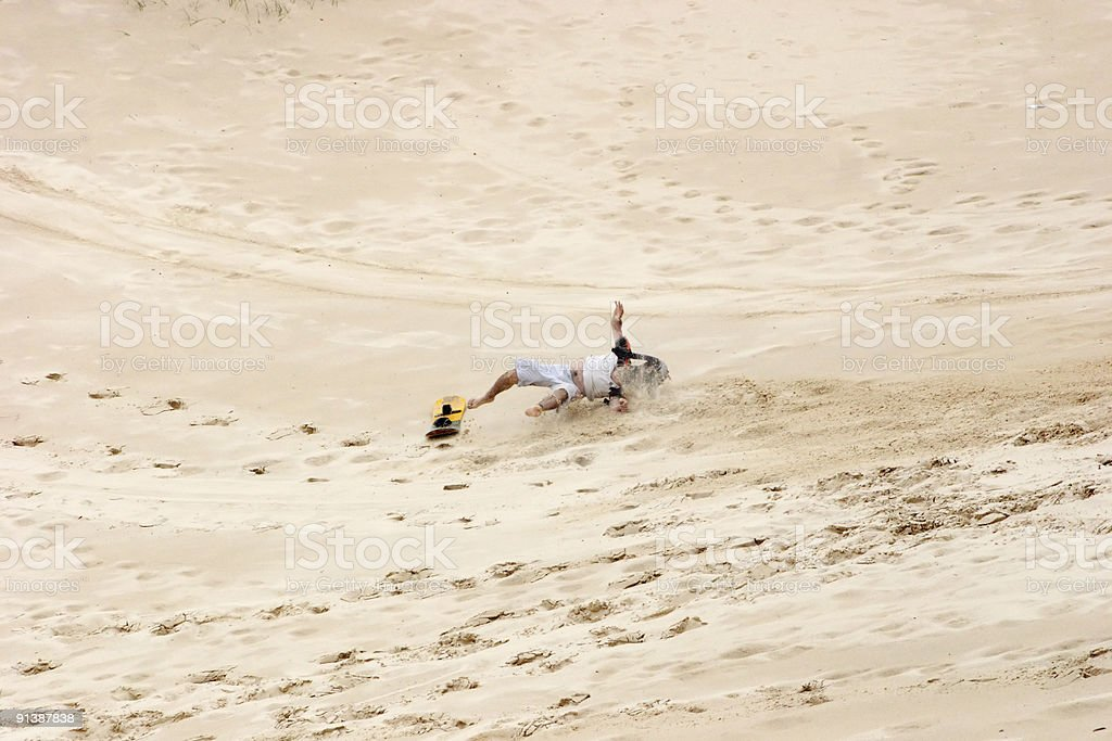 Sand board accident royalty-free stock photo