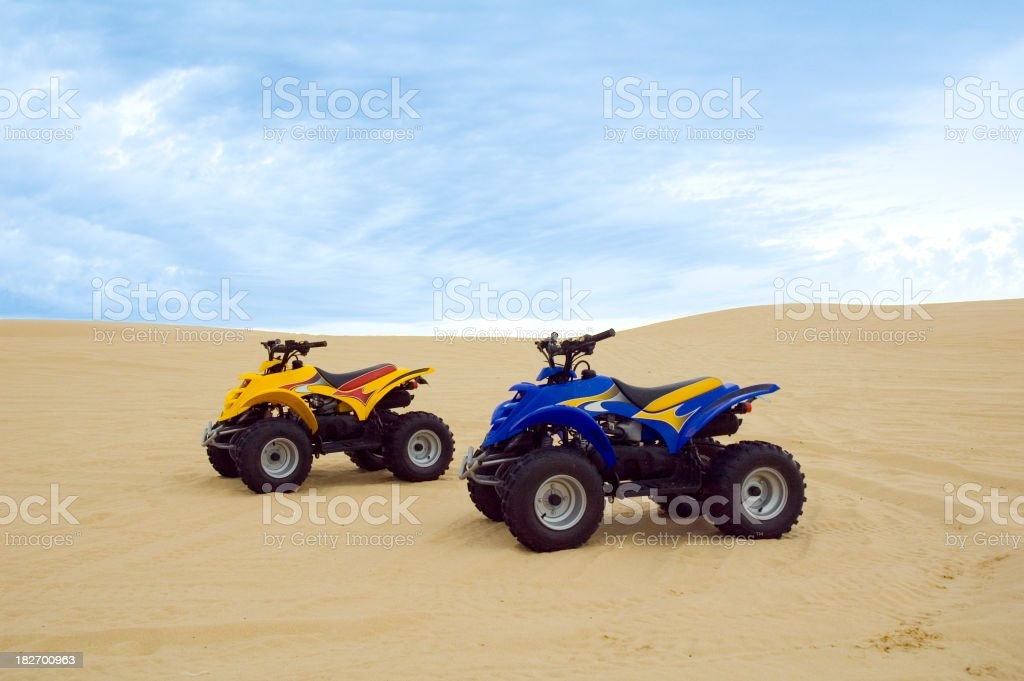 Sand buggies stock photo