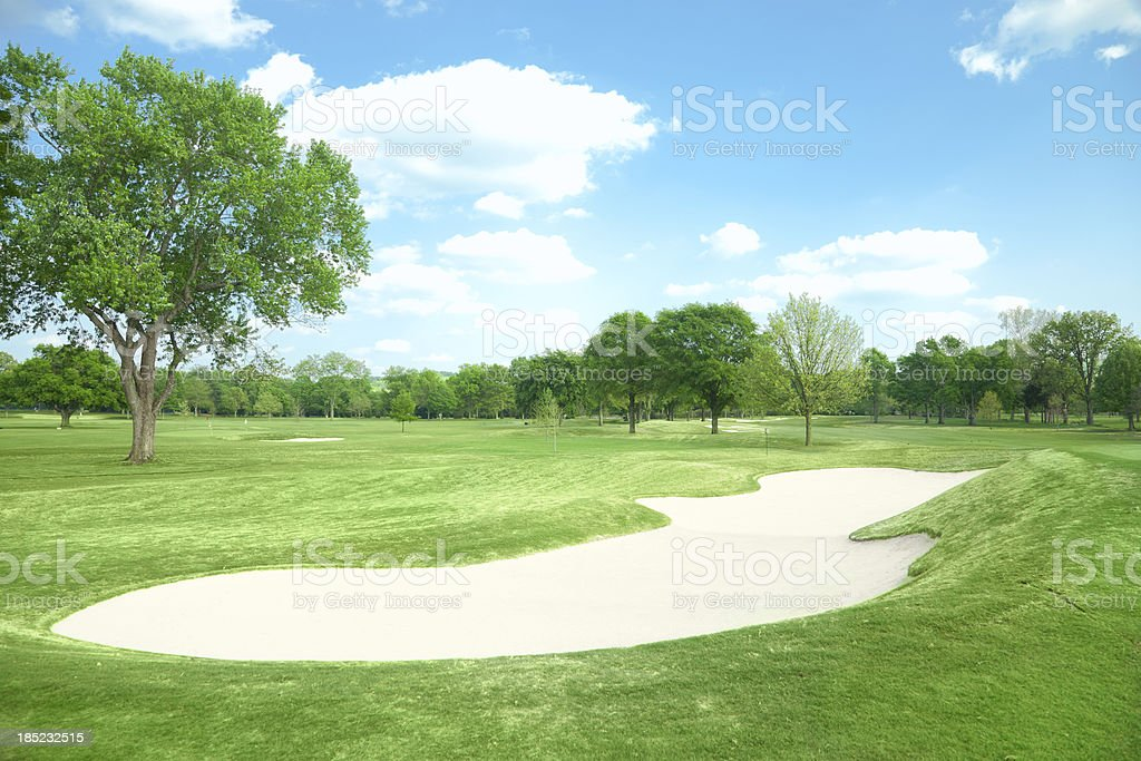 Sand Bunker royalty-free stock photo