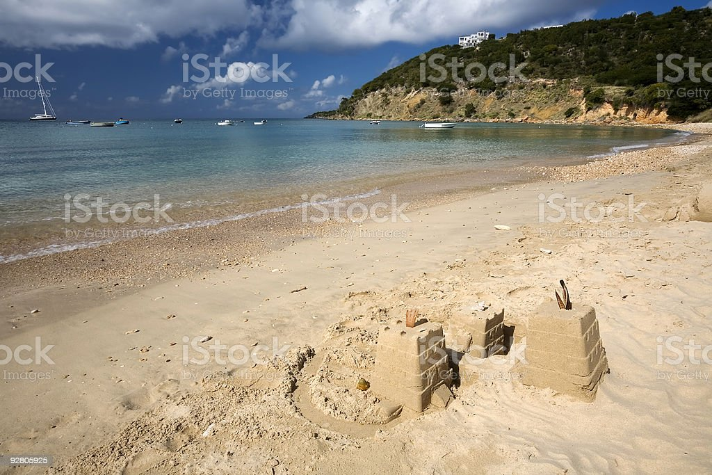 Sand Castles in the West Indies royalty-free stock photo