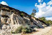 Sand Cliff Erosion