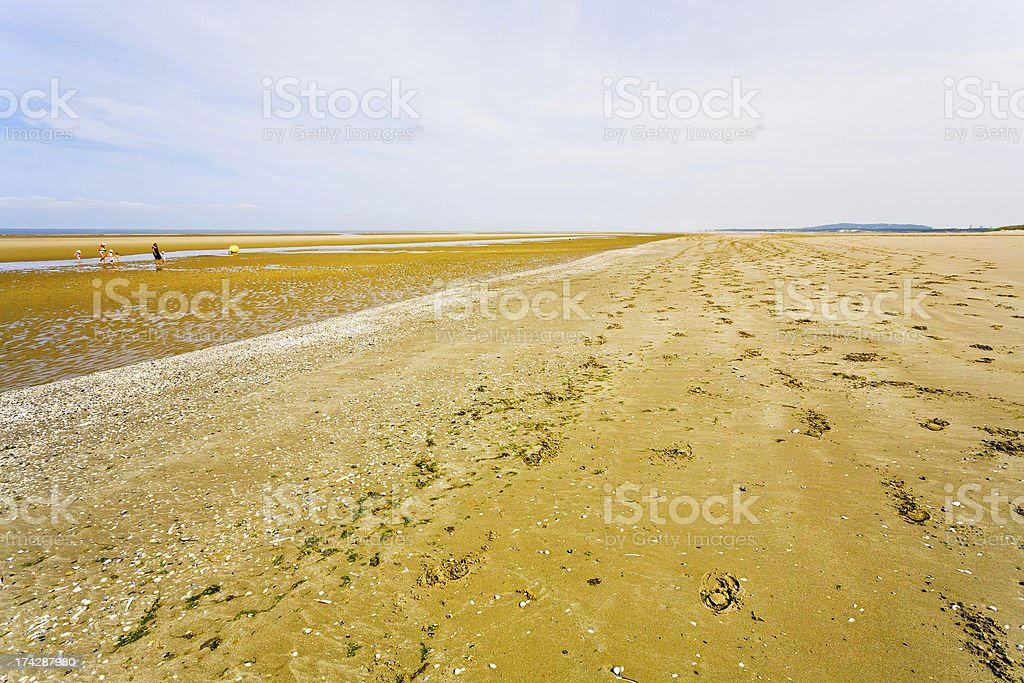 sand coastline of english channel in Normandy royalty-free stock photo