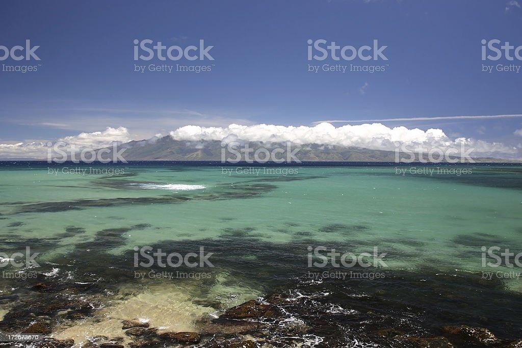 Sable & Coral paysage de l'ouest de Maui photo libre de droits