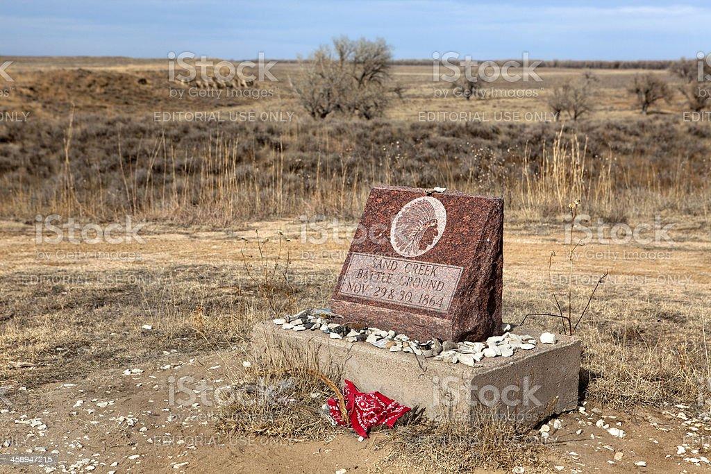 Sand Creek Massacre National Historic Site Colorado stock photo