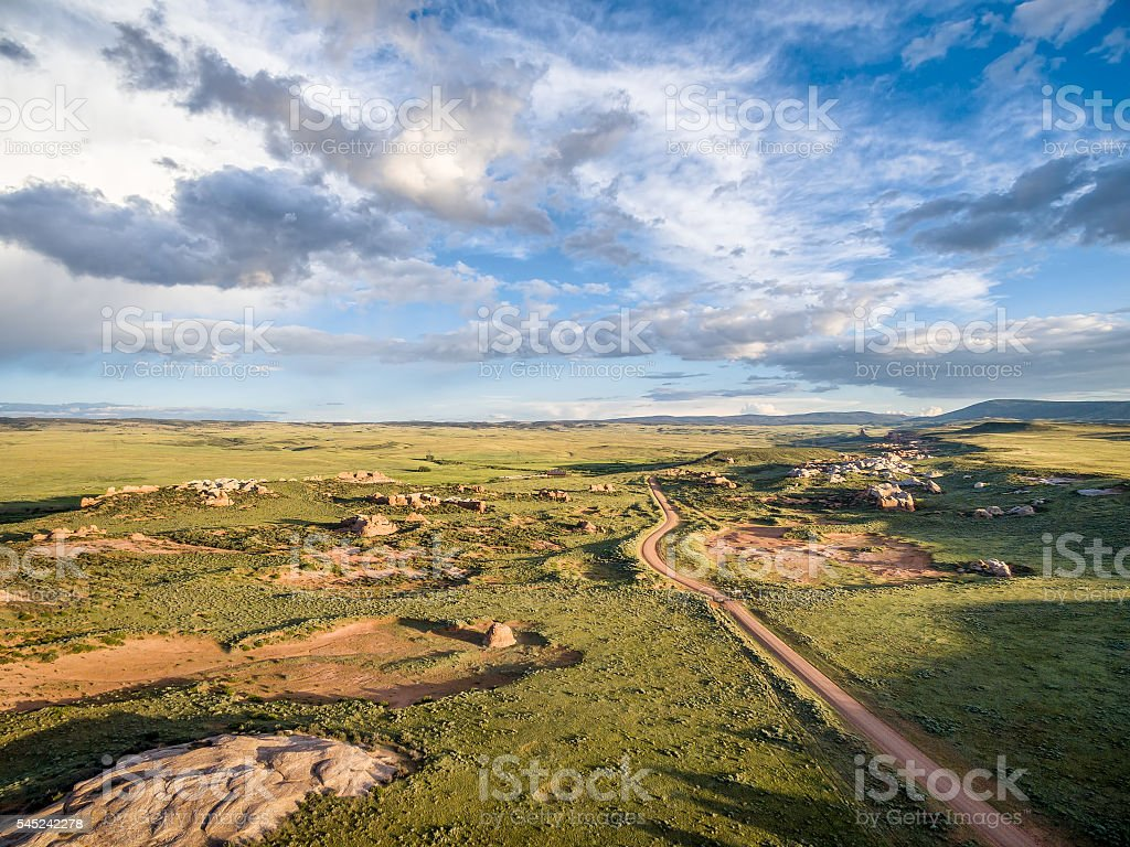Sand Creek National Natural Landmark stock photo