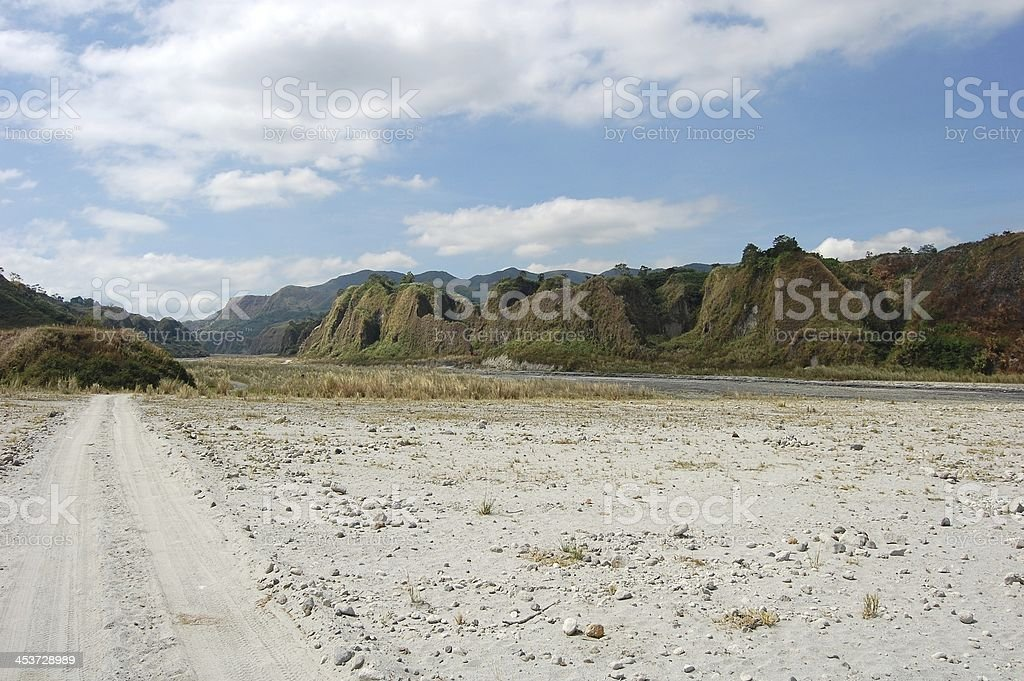 Sand desert, Road to Pinatubo volcano, Philippines royalty-free stock photo