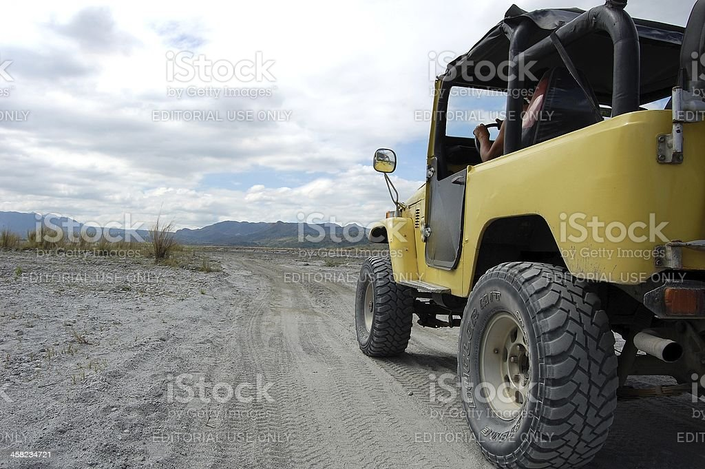 Sand desert, Road to Pinatubo volcano, Philippines royalty-free stock photo