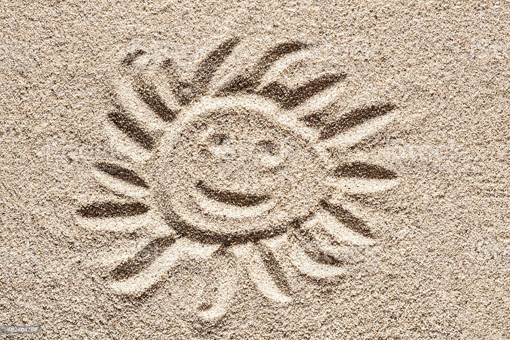 Sand Drawing. stock photo