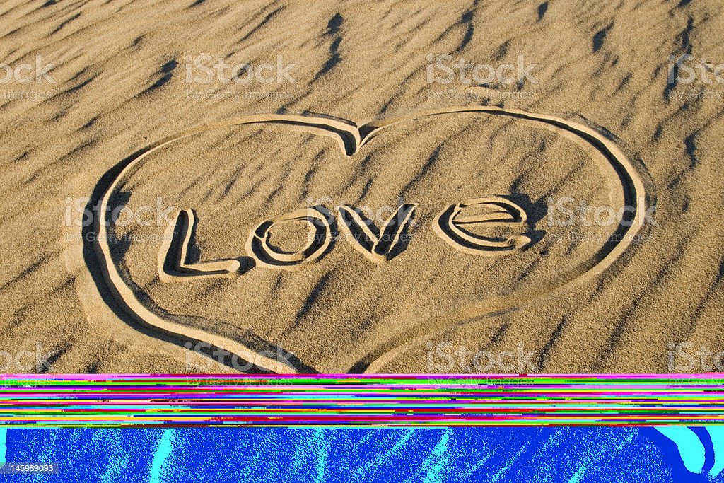 Sand Drawings royalty-free stock photo