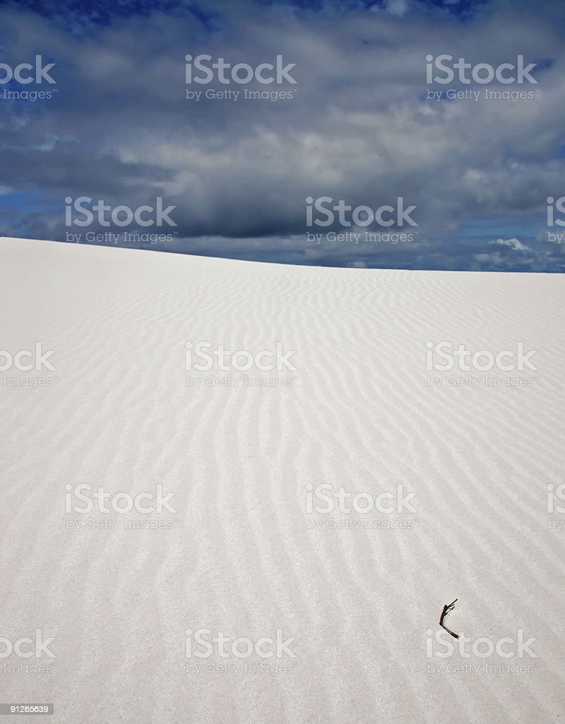Sand dune and dramatic sky stock photo