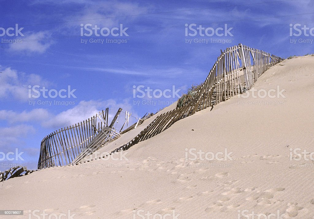 Sand dune at Cabo da Roca, Portugal royalty-free stock photo