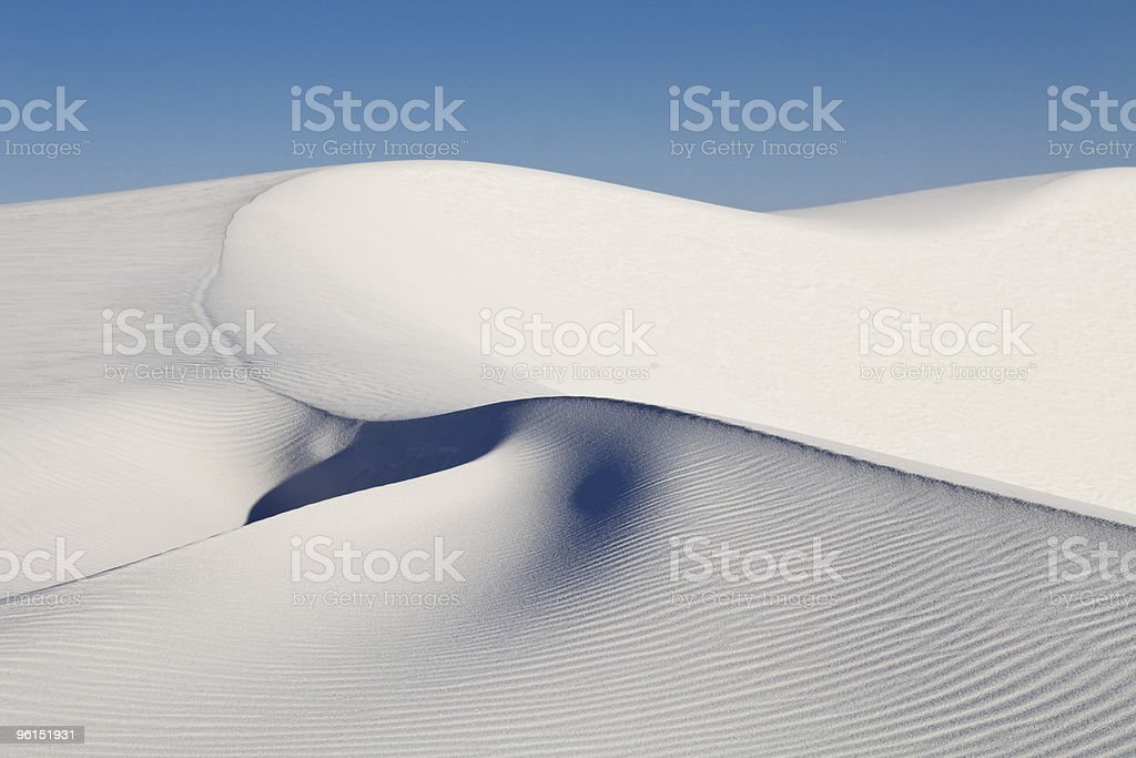 Sand Dune at White Sands National Monument, New Mexico stock photo