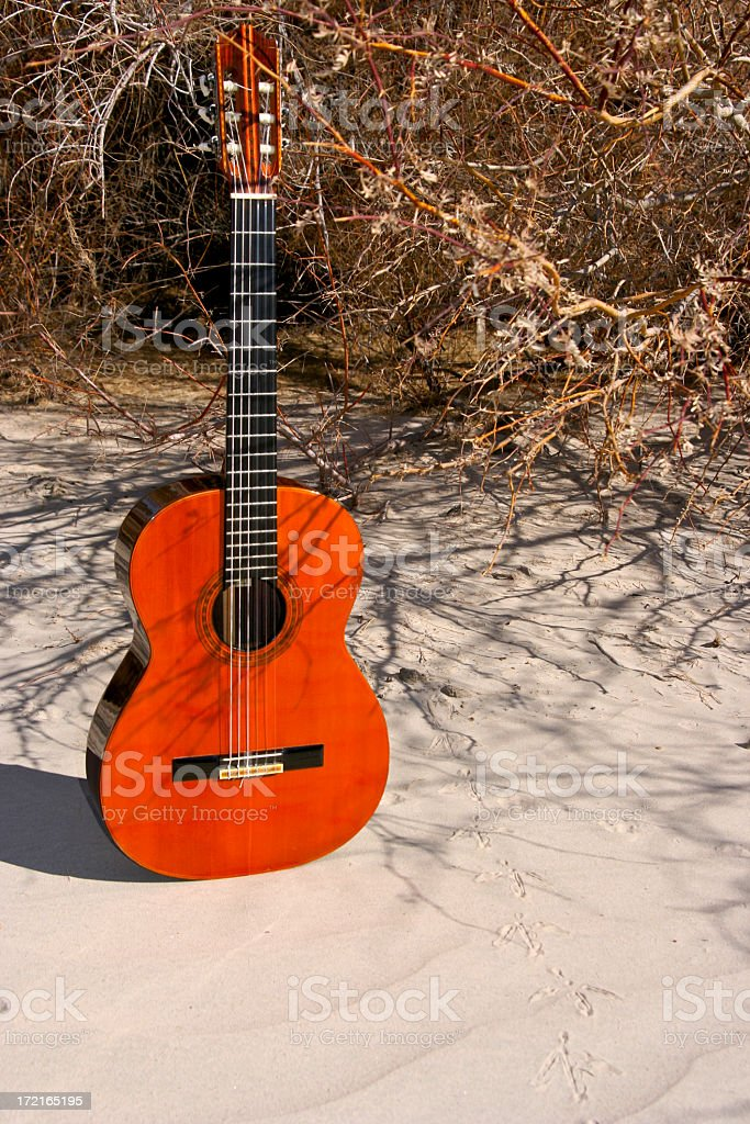 Sand Dune Guitar royalty-free stock photo